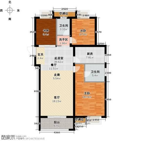旭辉美澜城3室0厅2卫1厨115.00㎡户型图