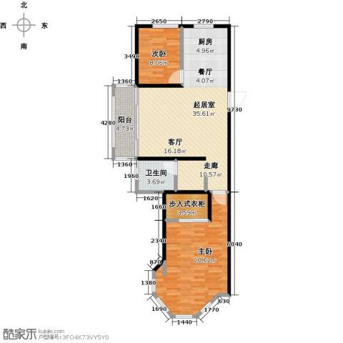 中南唐山湾2室0厅1卫0厨86.00㎡户型图