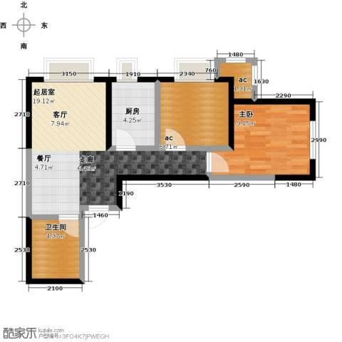 阳光100国际新城1室0厅1卫1厨62.00㎡户型图