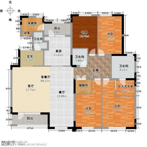 金地紫云庭4室1厅3卫1厨250.00㎡户型图