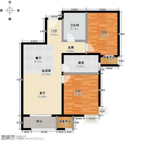 启新18892室0厅1卫1厨109.00㎡户型图