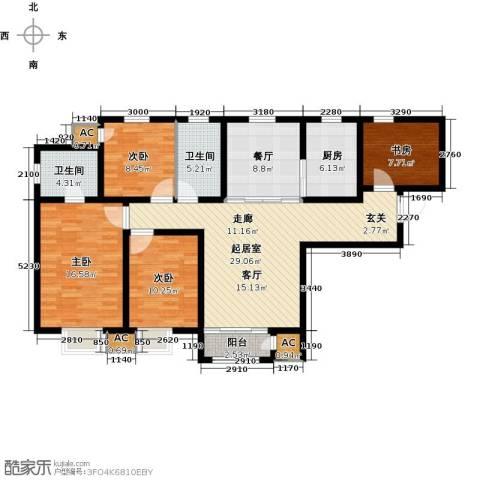 钱隆学府4室1厅2卫1厨128.00㎡户型图