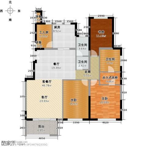 金地紫云庭3室1厅3卫1厨169.00㎡户型图
