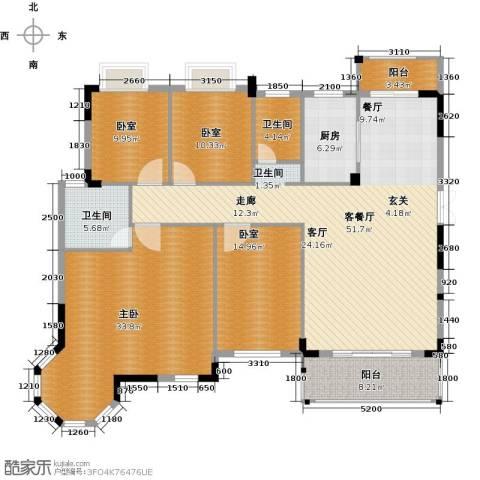 联泰棕榈庄园1室1厅2卫1厨175.00㎡户型图