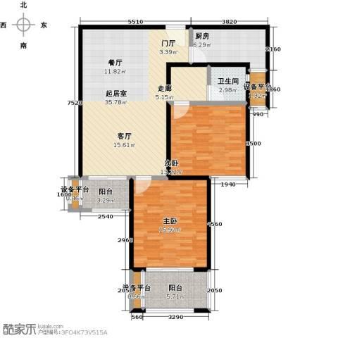 依水现代城2室0厅1卫1厨97.00㎡户型图