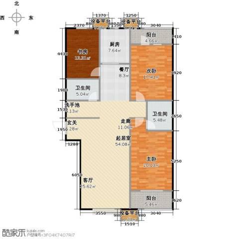 国海公寓3室0厅2卫1厨181.00㎡户型图