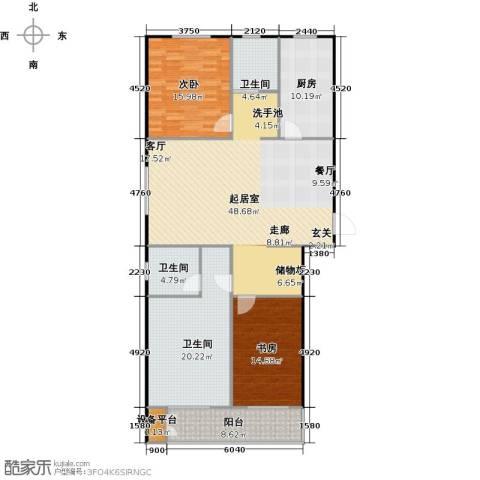 国海公寓2室0厅3卫1厨138.00㎡户型图