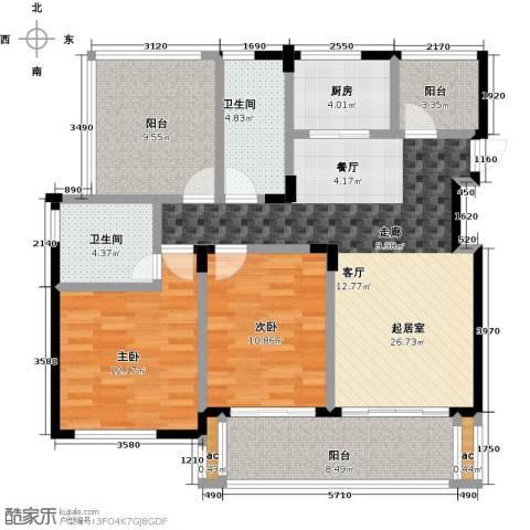 中节能生态岛2室0厅2卫1厨99.00㎡户型图