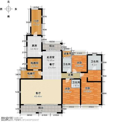 路劲天御3室0厅3卫1厨245.00㎡户型图