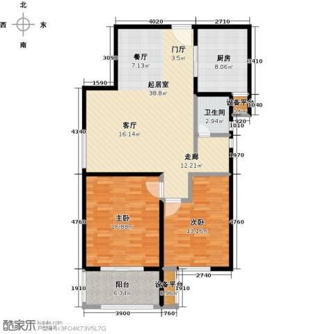 依水现代城2室0厅1卫1厨99.00㎡户型图