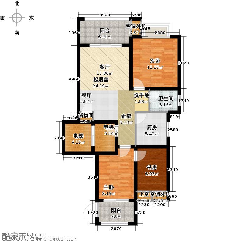 新城石湖公馆95.00㎡艺宅户型3室2厅1卫