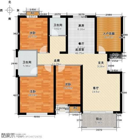 和顺新里程3室0厅2卫0厨117.07㎡户型图