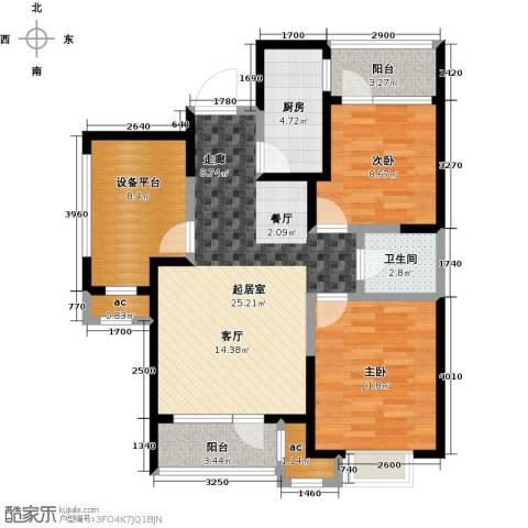 阳光100国际新城2室0厅1卫1厨89.00㎡户型图