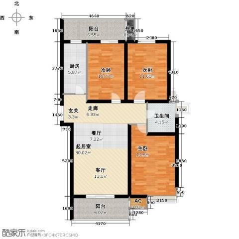 尚层名筑3室0厅1卫1厨131.00㎡户型图