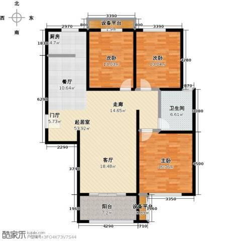 依水现代城3室0厅1卫0厨127.00㎡户型图