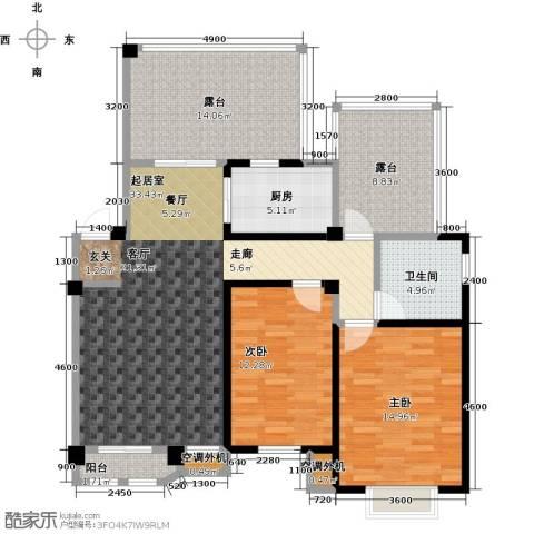 晟地绿园2室0厅1卫1厨96.30㎡户型图