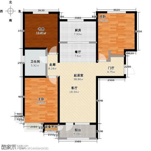 润达万科金域蓝湾3室0厅1卫1厨116.00㎡户型图