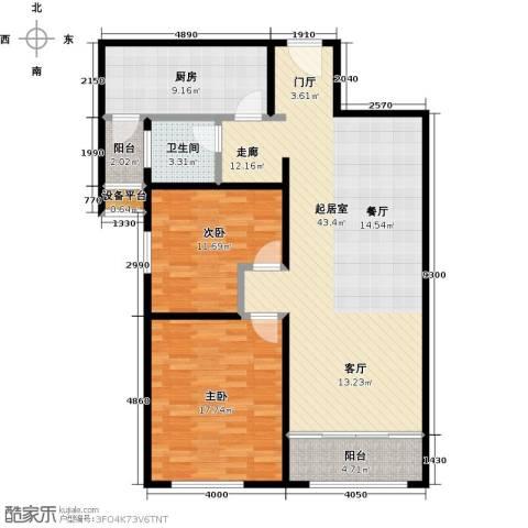 依水现代城2室0厅1卫1厨104.00㎡户型图