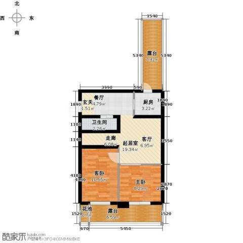 香缇公馆2室0厅1卫1厨68.00㎡户型图