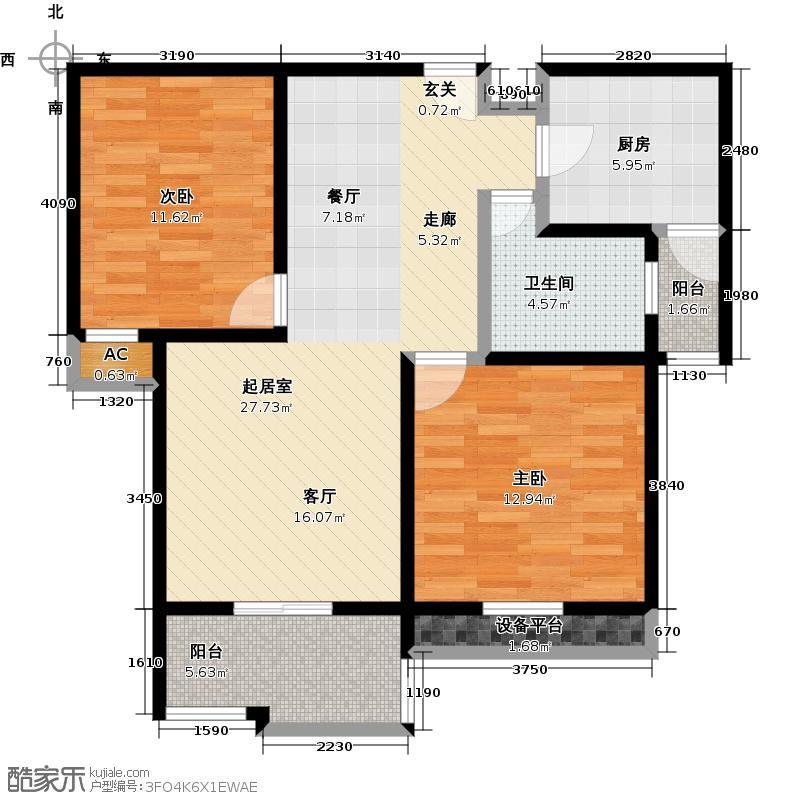 嘉城--54套-嘉定房地(2009)预字0118号户型2室1卫1厨
