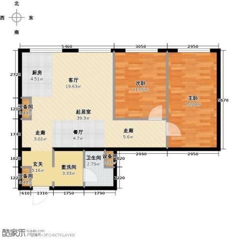 MOMA峰汇2室0厅1卫0厨92.00㎡户型图