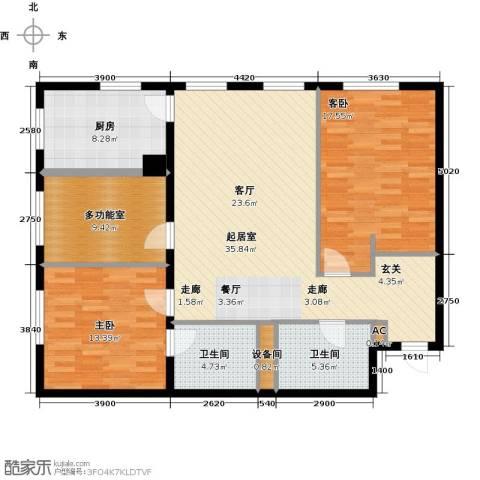 MOMA峰汇2室0厅2卫1厨131.00㎡户型图