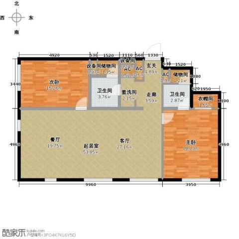 MOMA峰汇2室0厅2卫0厨122.00㎡户型图