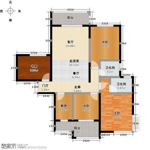 海港城4室0厅2卫1厨112.00㎡户型图