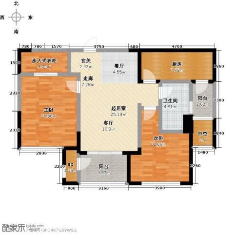 北极星花园2室0厅1卫1厨94.00㎡户型图