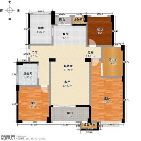 绿城乌镇雅园3室0厅2卫1厨140.00㎡户型图