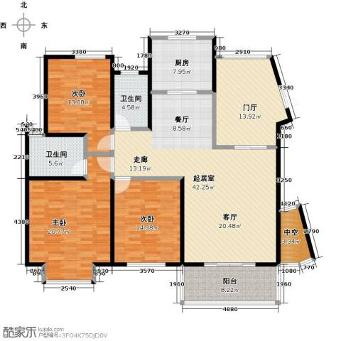 领秀冠南苑3室0厅2卫1厨147.00㎡户型图
