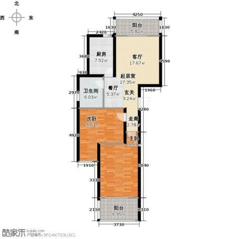 格林春天2室0厅1卫1厨98.00㎡户型图