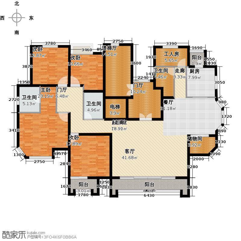 映月清水湾237.96㎡5#楼d2户型4室2厅3卫1厨户型4室2厅3卫