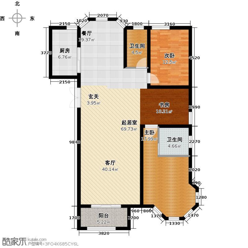 映月清水湾135.20㎡4#楼c3户型3室2厅2卫1厨户型3室2厅2卫