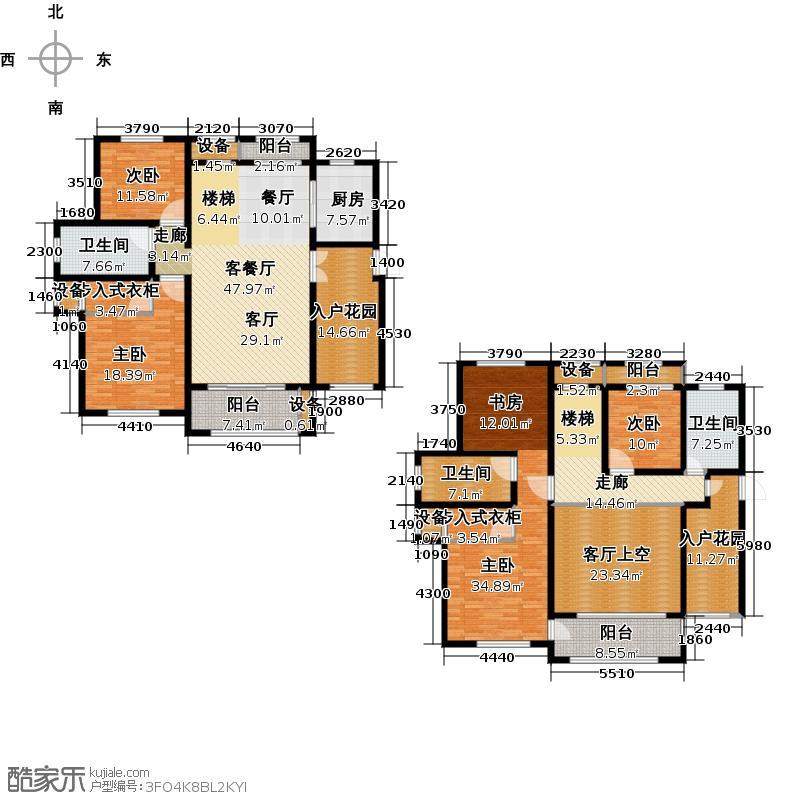 南阳建业森林半岛286.05㎡五室两厅三卫户型