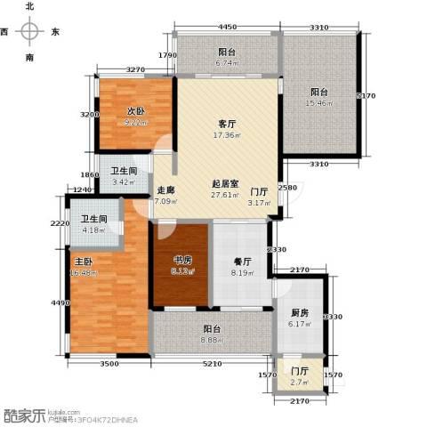 海港城3室1厅2卫1厨134.00㎡户型图