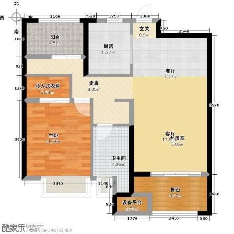 盐城金辉城1室0厅1卫1厨100.00㎡户型图