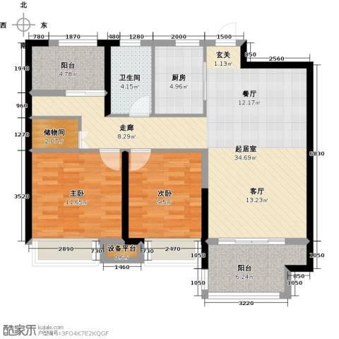 盐城金辉城2室0厅1卫1厨113.00㎡户型图