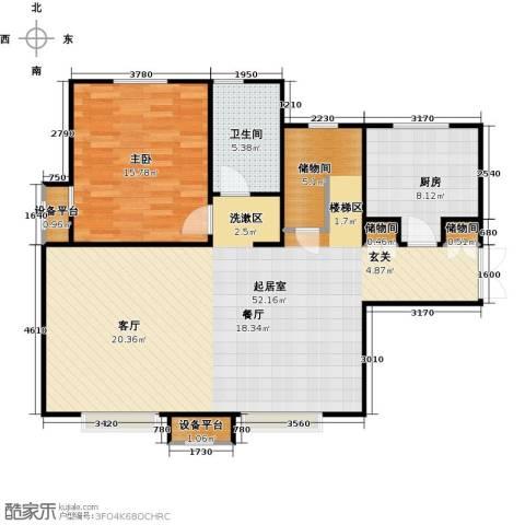 宝能城1室0厅1卫1厨176.00㎡户型图