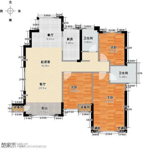 星河荣御3室0厅2卫1厨120.00㎡户型图