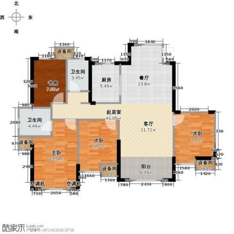 星河荣御4室0厅2卫1厨134.00㎡户型图