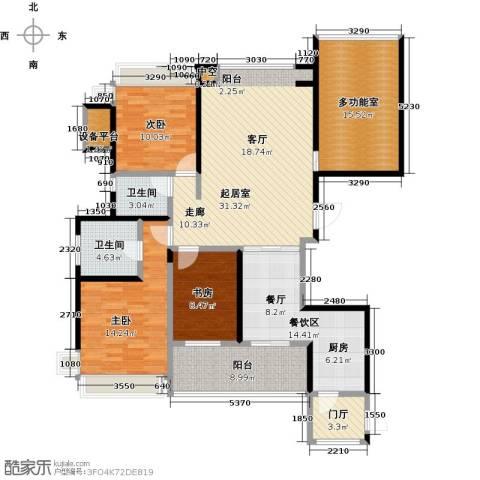 海港城3室0厅2卫0厨131.00㎡户型图