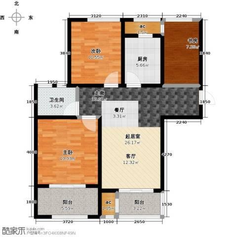 荣华世家3室0厅1卫1厨90.00㎡户型图