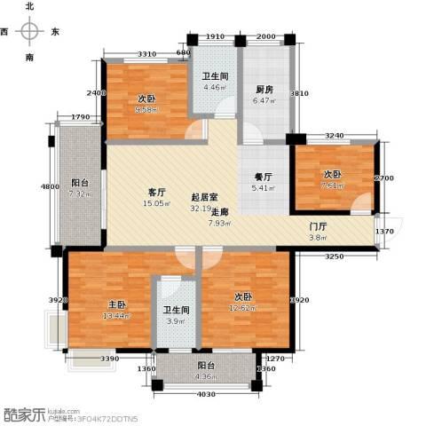 海港城4室0厅2卫1厨115.00㎡户型图