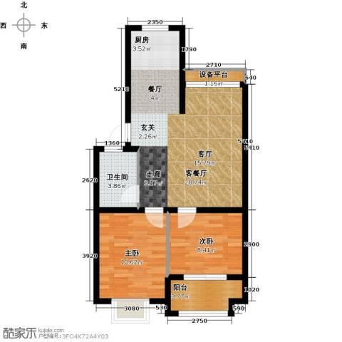 世纪绿城2室1厅1卫0厨65.00㎡户型图
