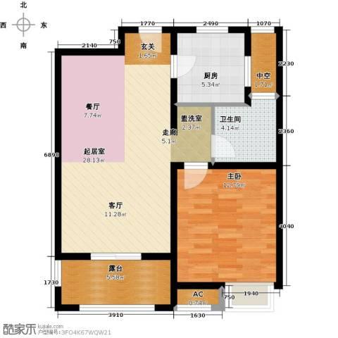 九龙仓时代上城二期繁华里1室0厅1卫1厨68.00㎡户型图