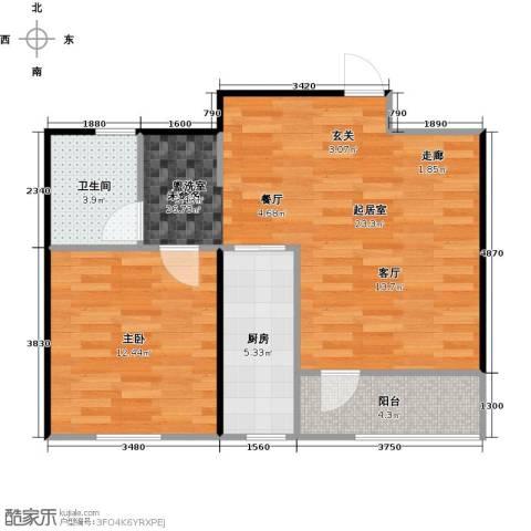 青国青城1室0厅1卫1厨52.70㎡户型图