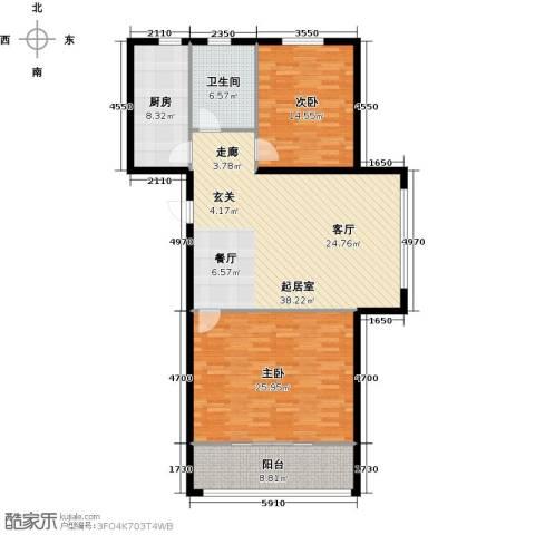 格林春天2室0厅1卫1厨112.00㎡户型图
