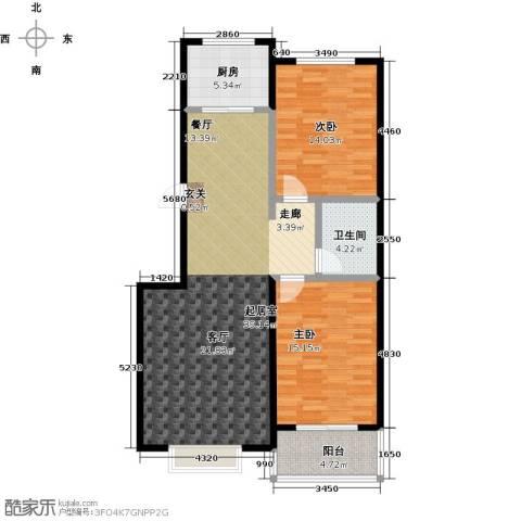 五里华都2室0厅1卫1厨98.00㎡户型图
