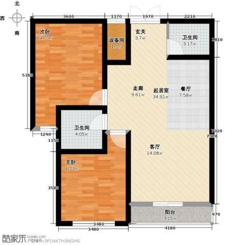 翰林北苑2室0厅2卫0厨84.00㎡户型图